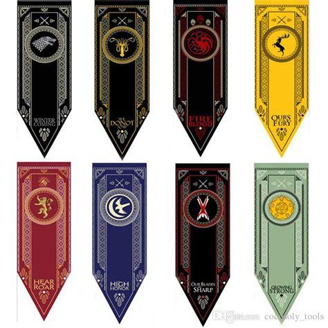 satin house stark banner game  thrones wolf