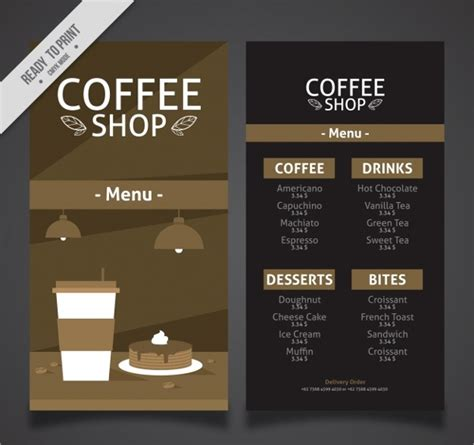 Download and buy this template here. vintage cafe menu