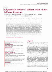(PDF) A Systematic Review of Patient Heart Failure Self ...