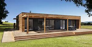 maison ossature bois contemporaine boismaison With amazing modele de maison en u 4 habitat performance construction maisons ossature bois