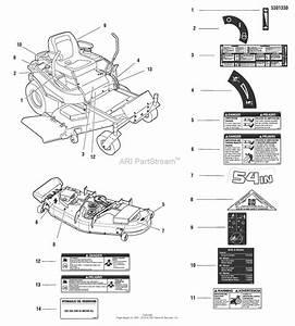Snapper 5900748 - 355zb2654  54 U0026quot  26 Hp Ztr 355z Series Parts Diagram For Decals