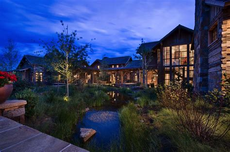 rustic  refined mountain home surrounded  montanas wilderness craftsman house mountain