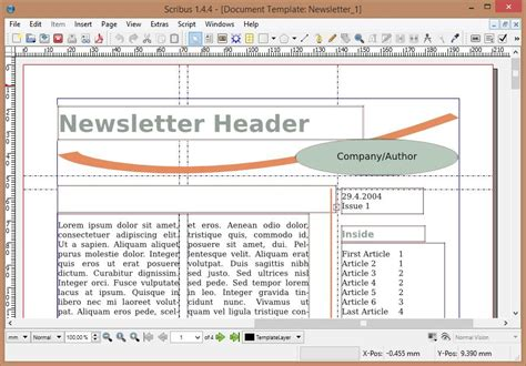 scribus templates scribus a top notch freeware desktop publishing program