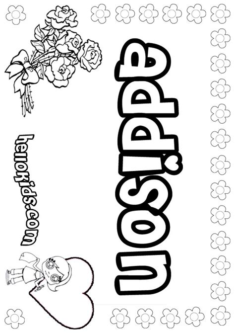 girls  coloring pages addison girly   color