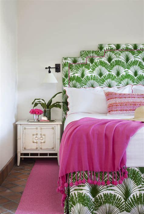 bold green  pink living  bedroom interiors  color