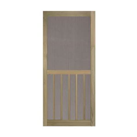 home depot wooden screen doors bay 36 in x 80 in 5 bar premium stainable