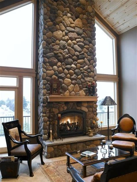 river rock fireplace building a veneer fireplace tips for design