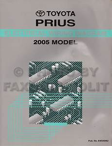 Toyota Prius Wiring Diagram Manual Original