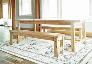 Ana White Beginner Farm Table Benches (2 Tools + $20 in