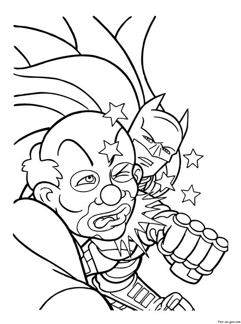 Coloring Pages To Print by Joker Coloring Pages To And Print For Free