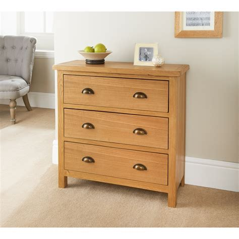 Wiltshire 3 Drawer Chest   Bedroom Furniture   B&M Stores