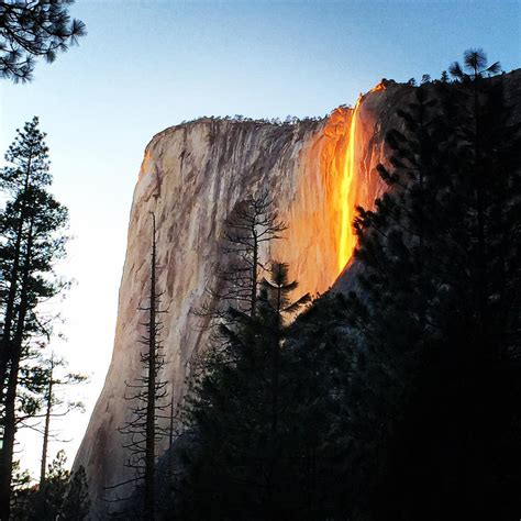 Horsetail Fall In Yosemite National Park Earth Blog
