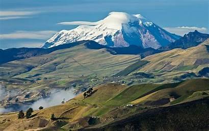 Mountain Highest Biggest Ecuador Chimborazo Tallest Perfect