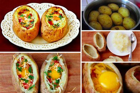 les pommes de terre farcies oeuf cocotte la recette