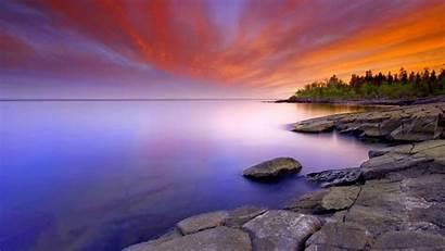 Serenity Superior Lake Sunset Wallpapers Shore North