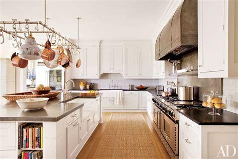 Kitchen Island With Pot Rack - white kitchens design ideas photos architectural digest