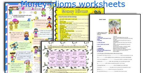 teaching worksheets money idioms
