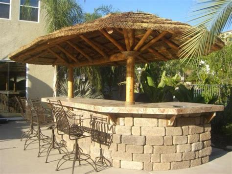 Buy Tiki Hut by Plastic Fireproof Recycled Palm Leaf Roofing For Tiki Hut
