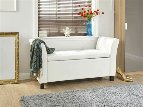 Bench Footstool by Verona Window Seat Ottoman Large Faux Leather Footstool