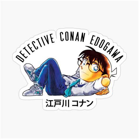 detective conan edogawa sticker by badrelnajjar in 2020