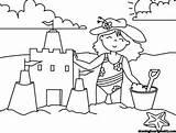 Sandcastle Coloring Luxury sketch template