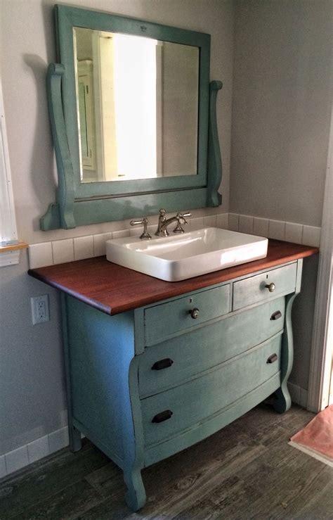 repurposed   dresser     vanity