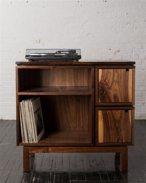 diy record player cabinet walnut record player stand