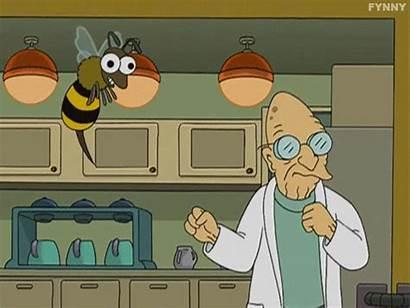 Farnsworth Professor Futurama Gifs Sting Giphy Dollar