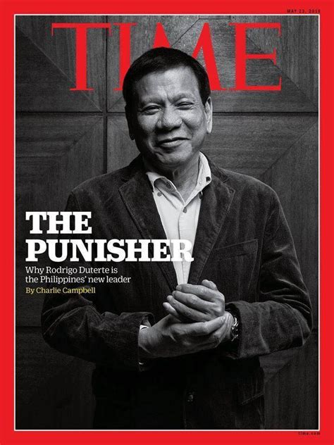 "Time Magazine Cover Page Features ""the Punisher"" Rodrigo"