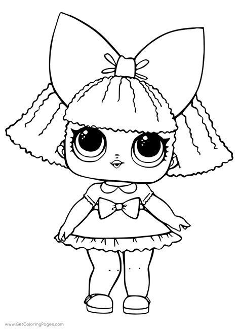 treasure lol surprise doll colouring pages  coloring
