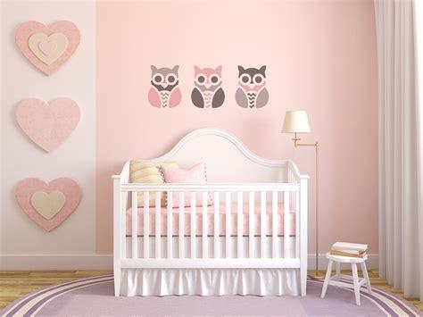 pochoir mural chambre pochoir hibou enfant pour tissus meubles murs