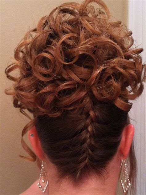 upside down braid with ringlet curls i do do you