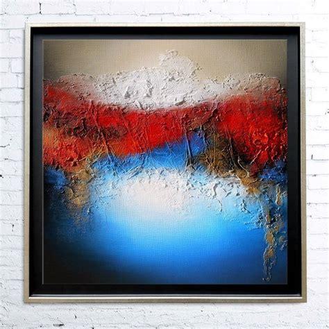 tableau encadr 233 abstrait moderne contemporain peinture acrylique en relief dor 233 noir bleu