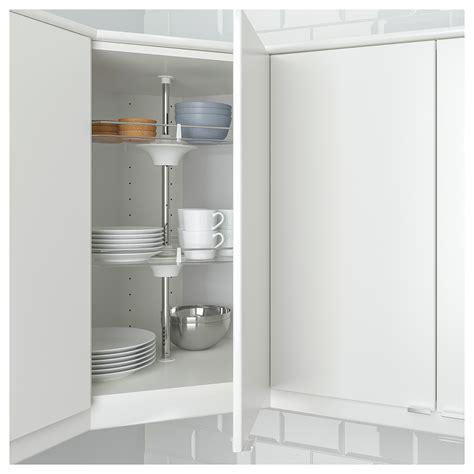 Corner Cupboards Ikea by Metod Corner Wall Cab W Carousel Glass Dr White Lerhyttan