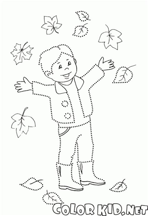 coloring page autumn leaf fall