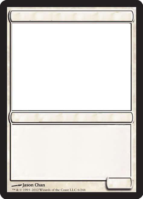 mtg blank white card  growlydave  deviantart