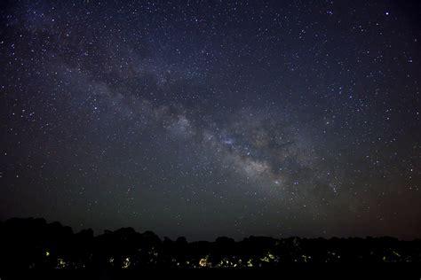 Bigstock Milky Way Galaxy Over Road Lit Depth