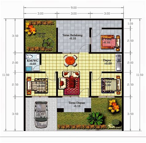 design rumah ukuran  rumah zee