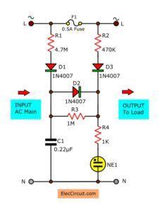 Fuse Failure Alarm With Led Light Eleccircuit