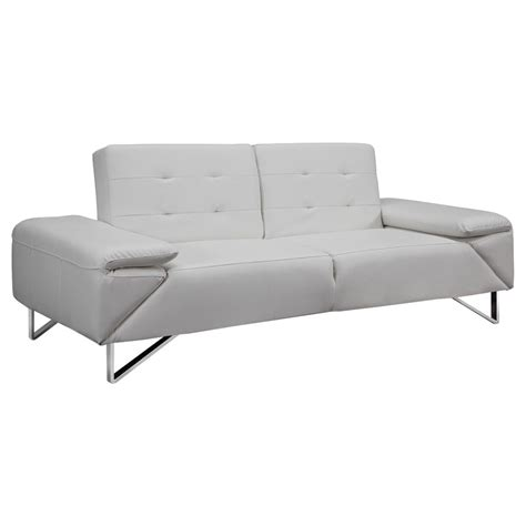 White Sofa Sleeper by Lippman White Contemporary Sleeper Collectic Home