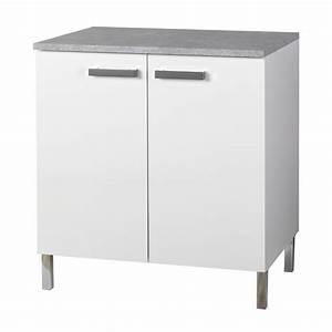 Meuble Avec Plan De Travail : meuble de cuisine blanc pas cher cuisine en image ~ Dailycaller-alerts.com Idées de Décoration