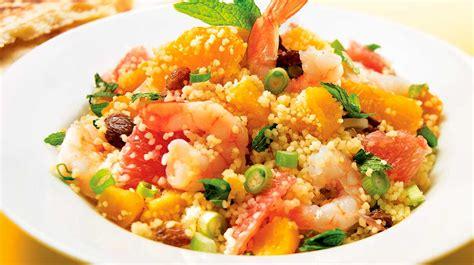 couscous aux crevettes et aux agrumes recettes iga