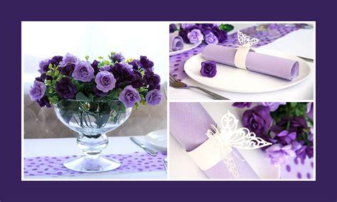 Blumen Hochzeit Dekorationsideenblumen Hochzeit Deko In Lila by Hochzeit Servietten Hochzeit Geburtstag Taufe