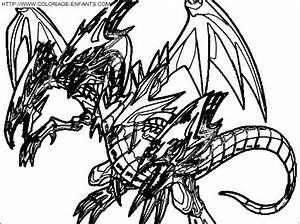 Coloriage Yu Gi Oh Le Dernier Dragon Aux Yeux Bleus  U00e0