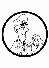 Postman Library Clipart Coloring Clip Pat Worker Colouring Sheets Key Pages sketch template