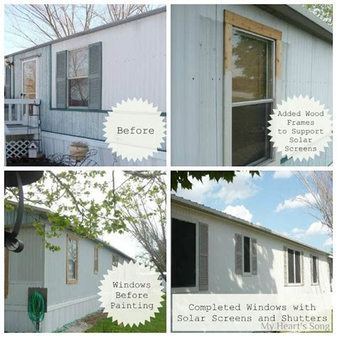 My Heart's Song: Mobile Home Exterior   Before/After
