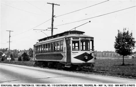 Schuylkill Valley Org by Philadelphia Trolley Tracks Schuylkill Valley Traction Co