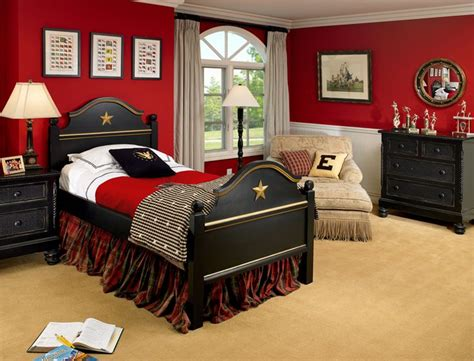 Red Black And Gray Boys Bedroom Design Ideas