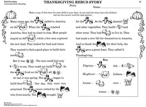 thanksgiving facts for preschoolers thanksgiving printable history story for for 992