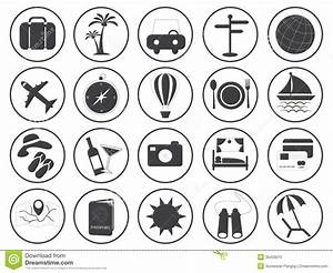 Travel Icons Vector Collection Royalty Free Stock Photo ...